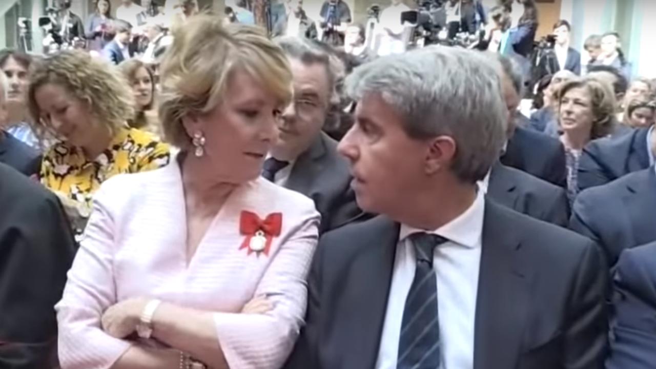 Esperanza Aguirre y Ángel Garrido