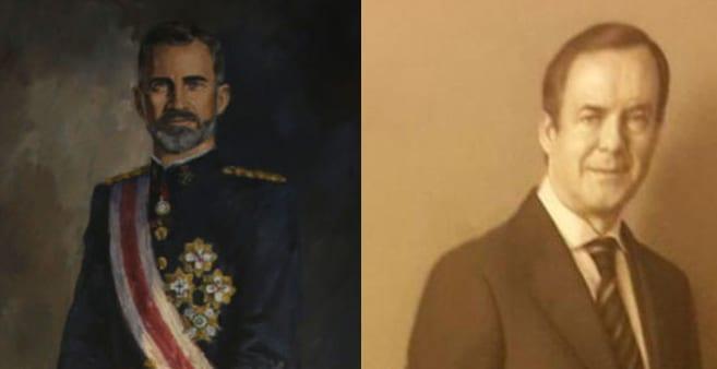 Retrato anterior del Rey junto al retrato de José Bono de 82.600 euros