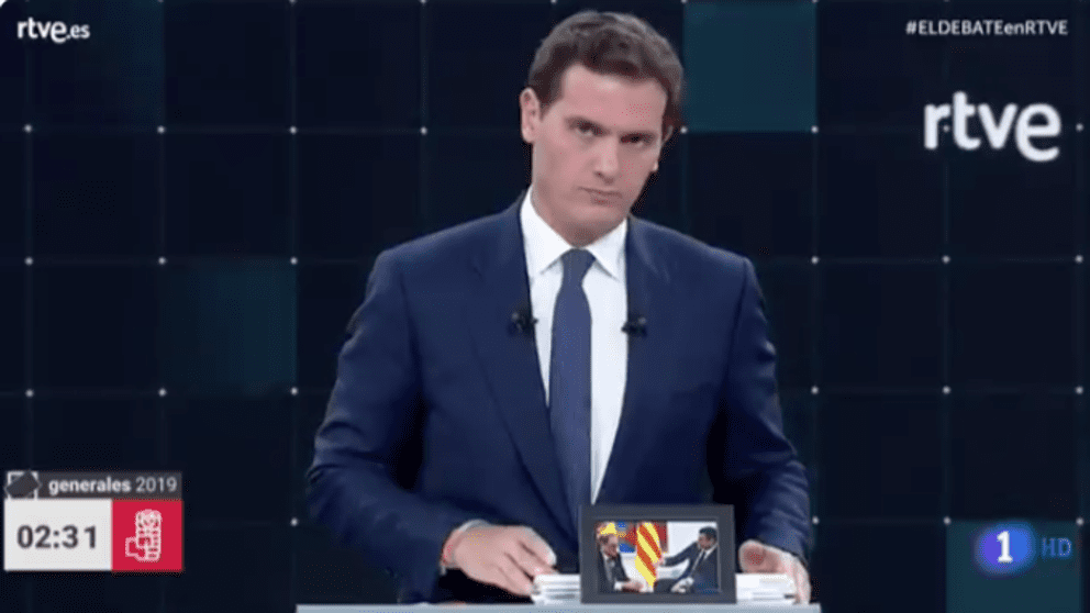 Albert Rivera en el debate de TVE
