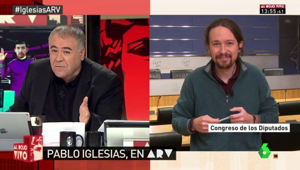 Antonio García Ferreras y Pablo Iglesias en La Sexta