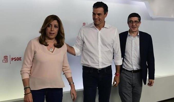 Susana Díaz cuando fracasó en las primarias del PSOE
