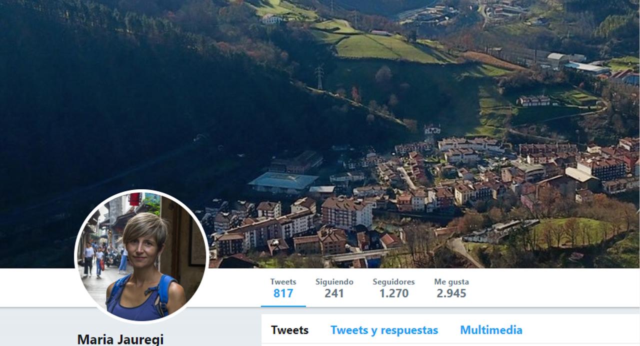 Perfil en Twitter de María Jauregi