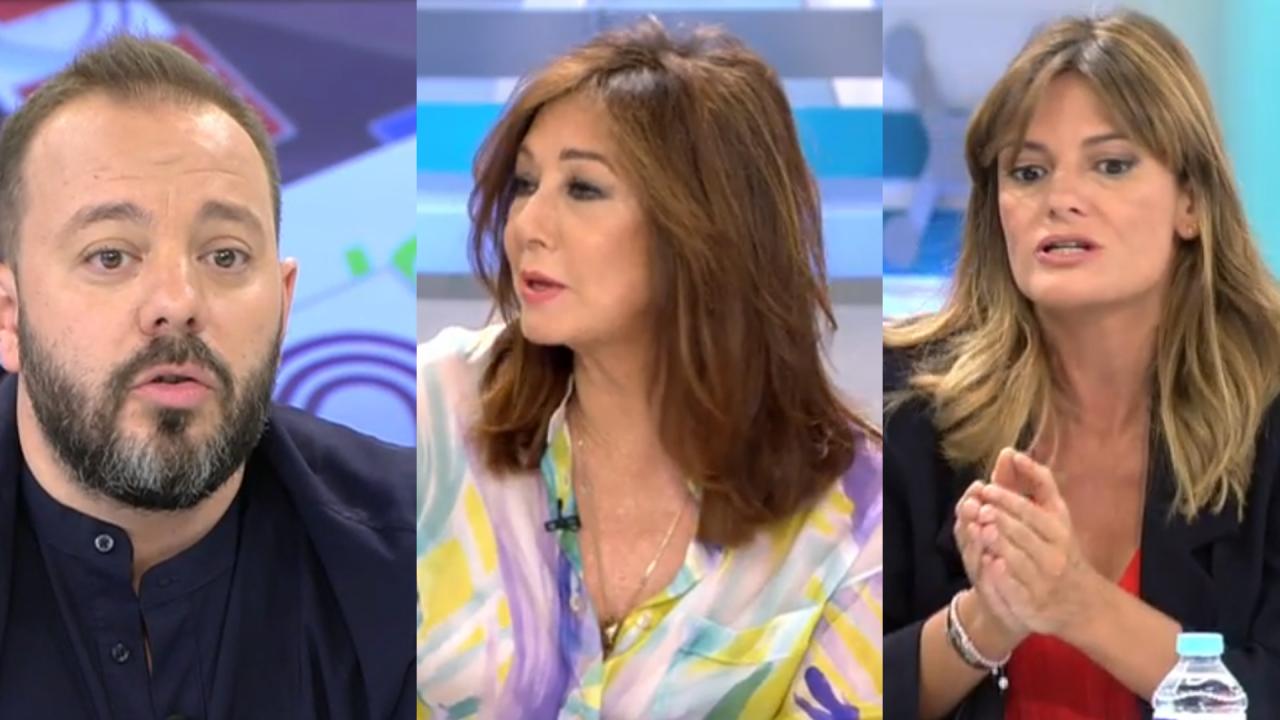Antonio Maestre, Ana Rosa Quintana y Pilar Gómez en Telecinco