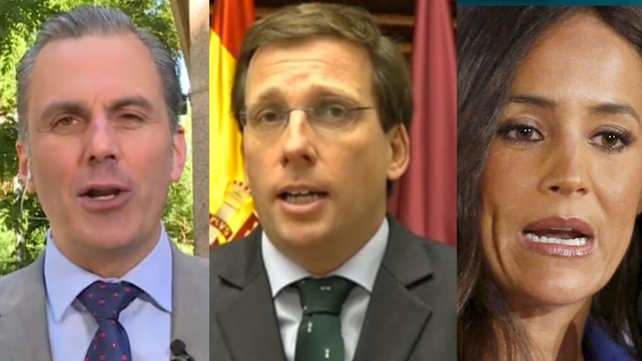 Ortega Smith (VOX), Almeida (PP) y Villacís (C's)