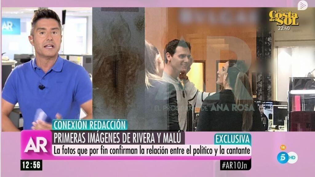 Albert Rivera y Malú en el programa de Ana Rosa de Telecinco