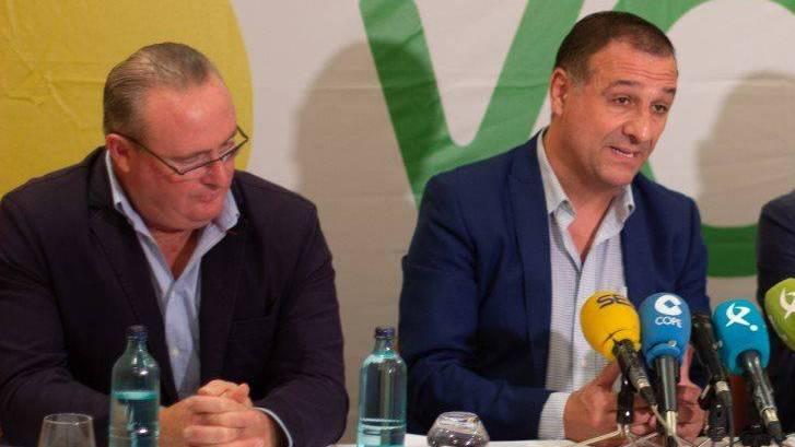 Antonio Pozo y Juan Antonio Morales, dirigentes de VOX en Extremadura