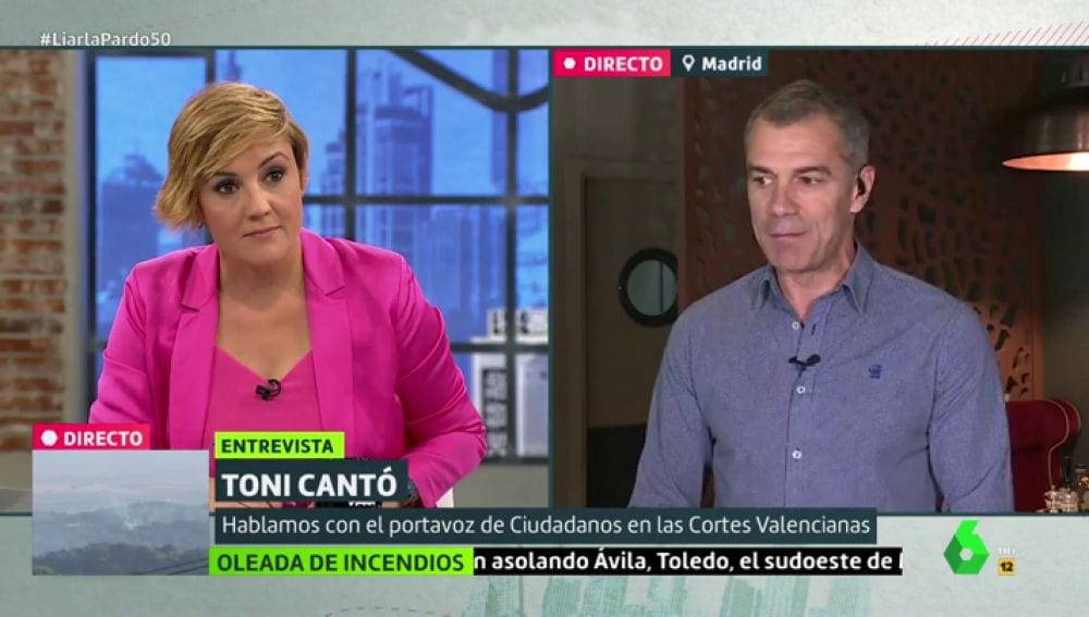 Cristina Pardo y Toni Cantó en LaSexta