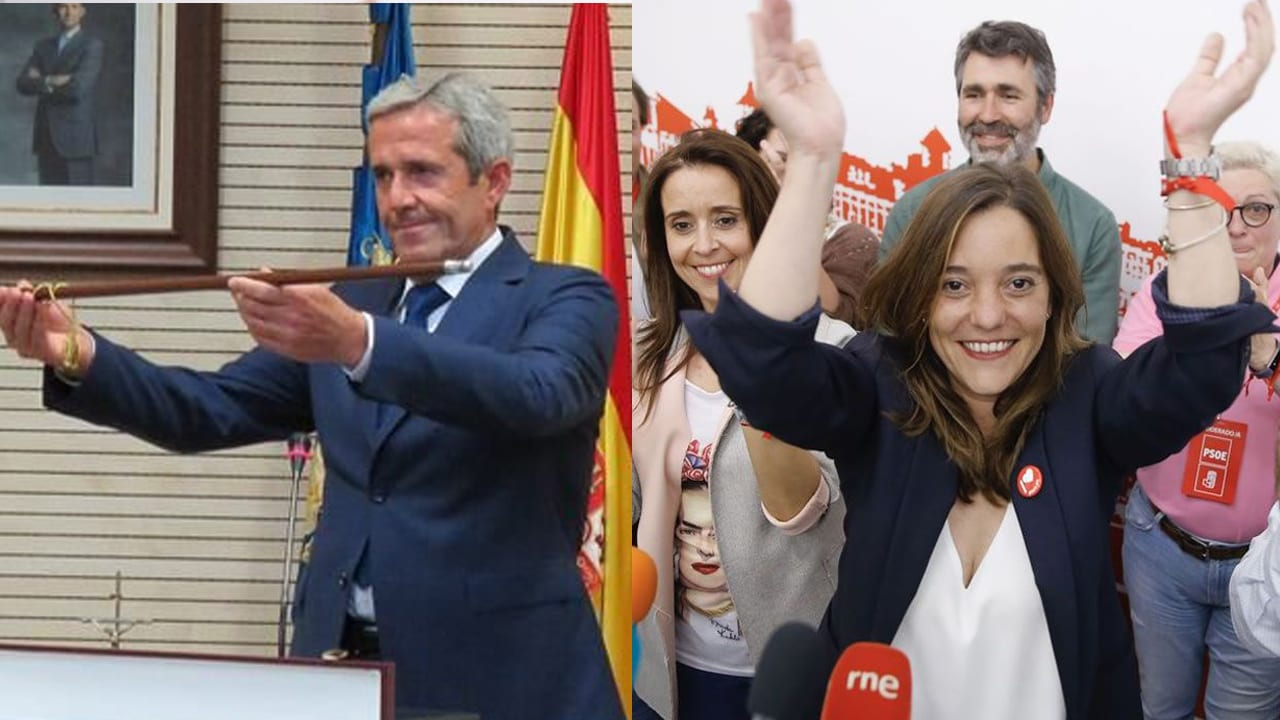 José María Pérez (PP) e Inés Rey (PSOE)