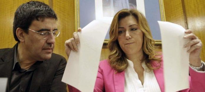 Mario Jiménez y Susana Díaz, peces gordos de la organización PSOE-A