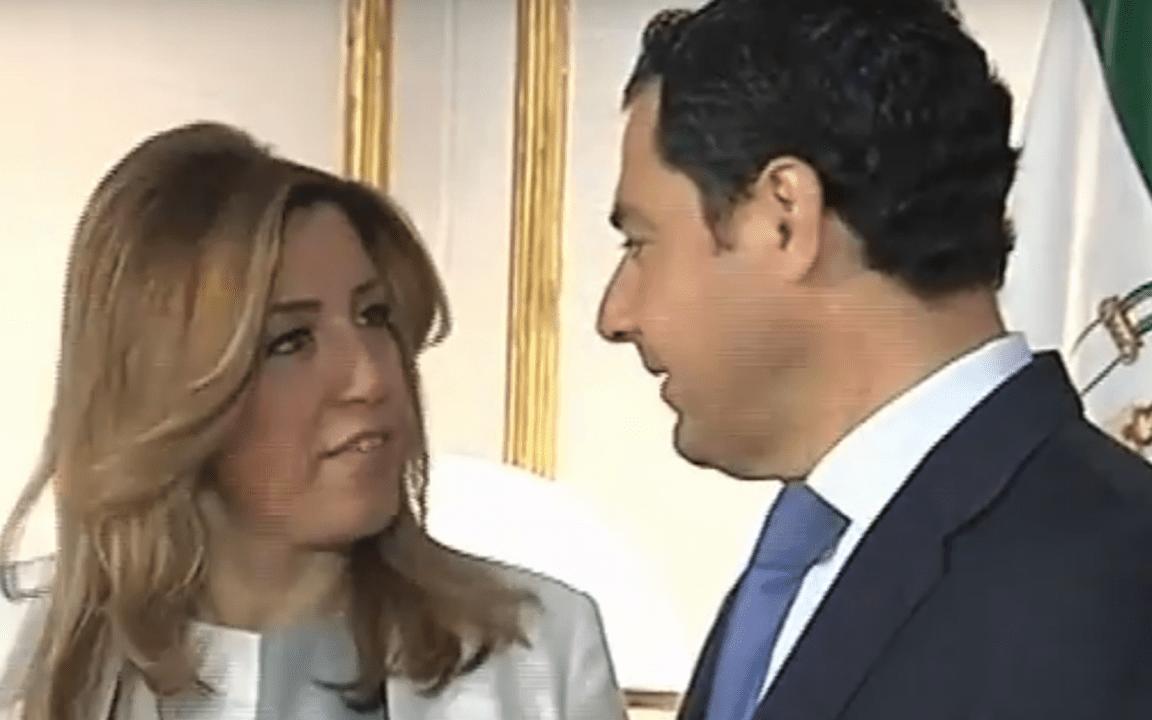 La líder de la oposición y el Presidente de la Junta de Andalucía, Susana Díaz y Juan Marín.