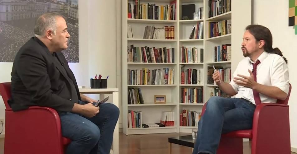 Antonio García Ferreras y Pablo Iglesias en laSexta.