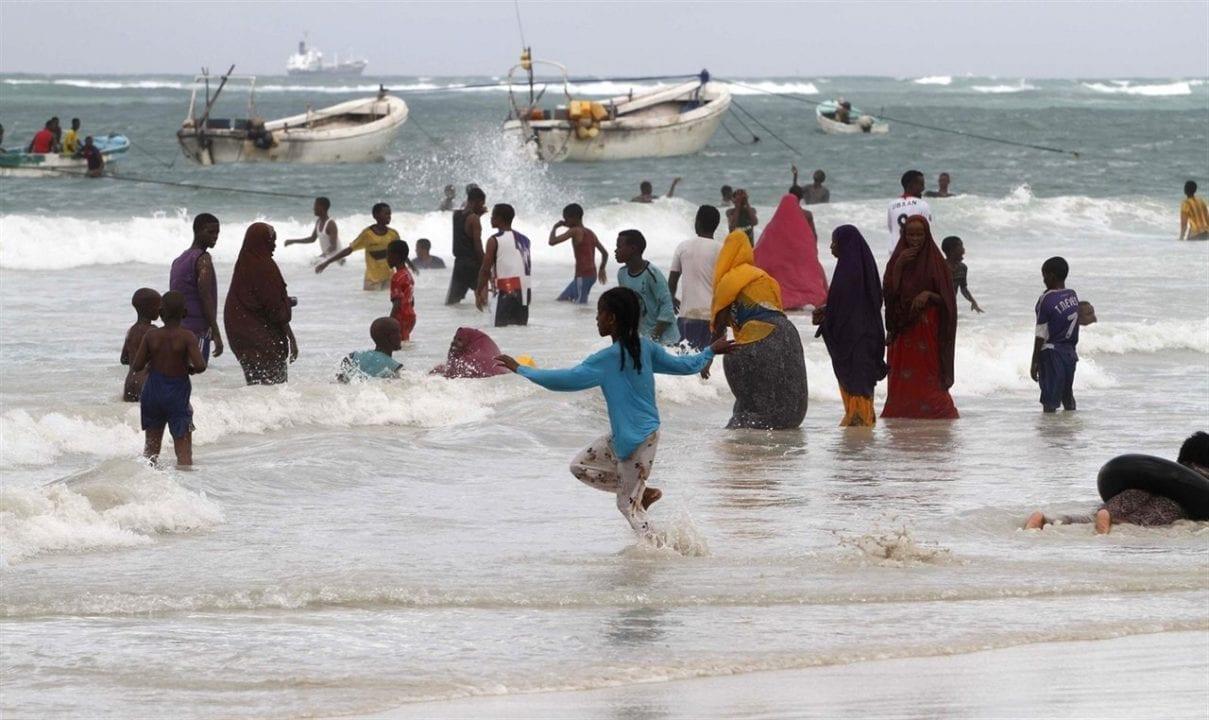Playa de Mogadiscio en Somalia