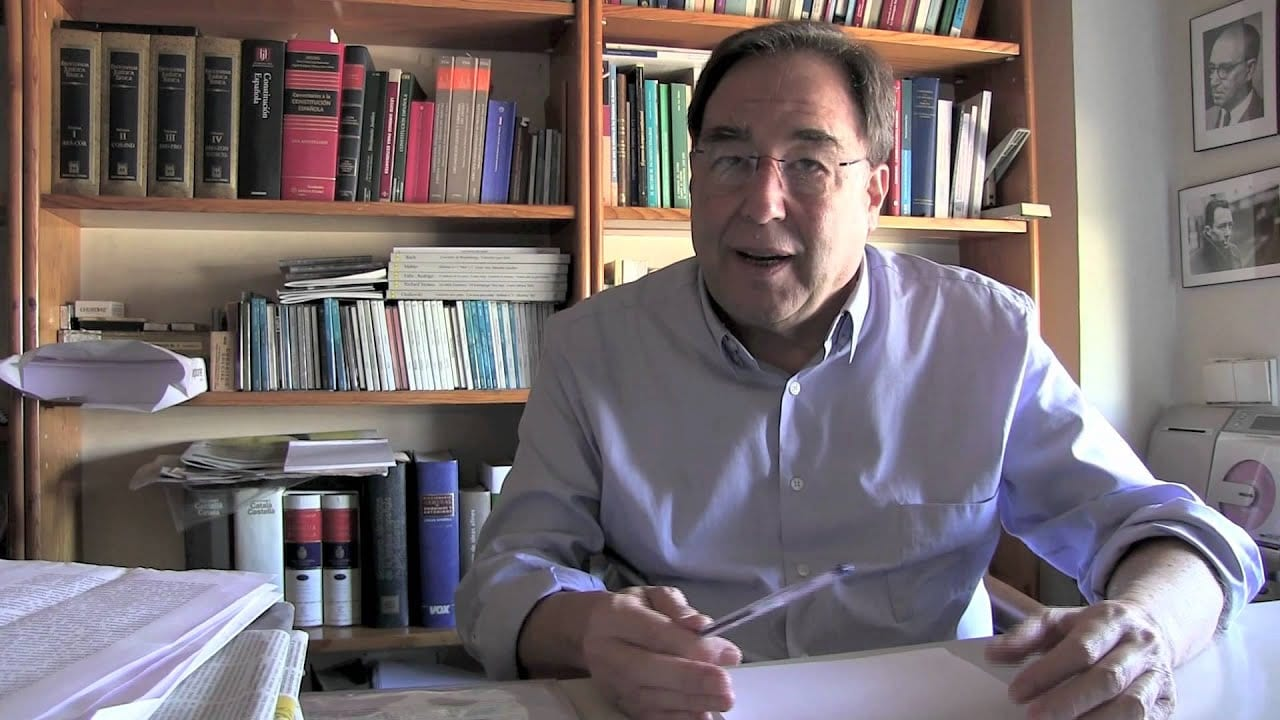 Francesc de Carreras. Fuente: Youtube.