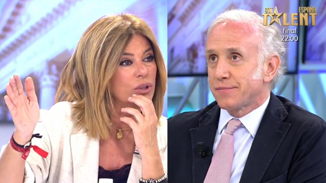 Esther Palomera y Eduardo Inda en Telecinco