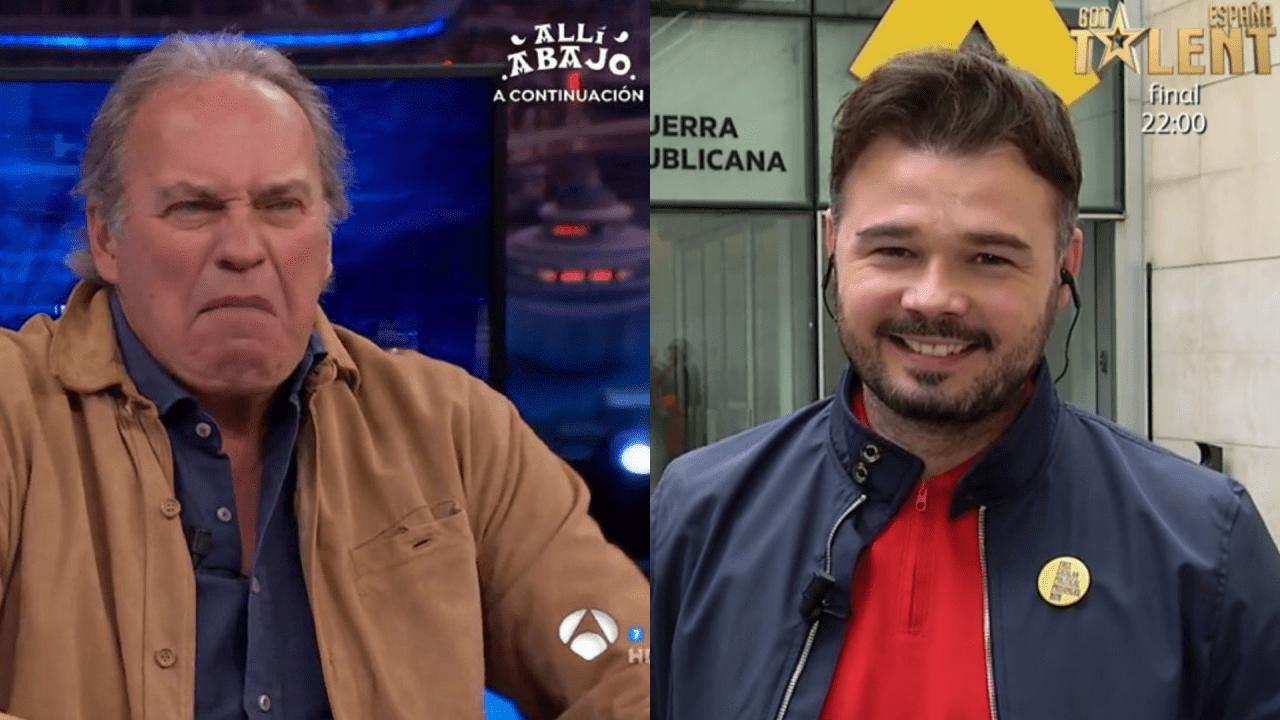 Bertín Osborne en Atresmedia y Gabriel Rufian en Mediaset