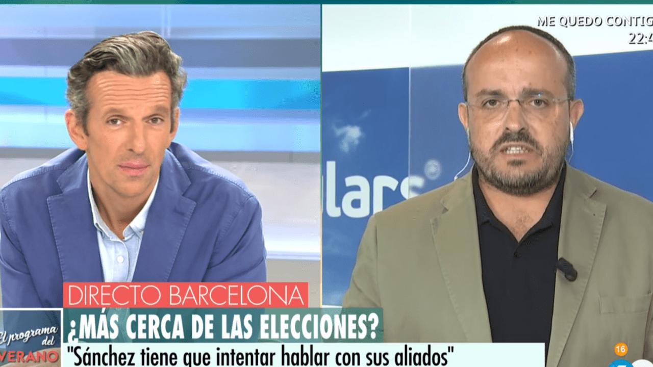 Joaquín Prats y Alejandro Fernández Álvarez (PP) en Telecinco