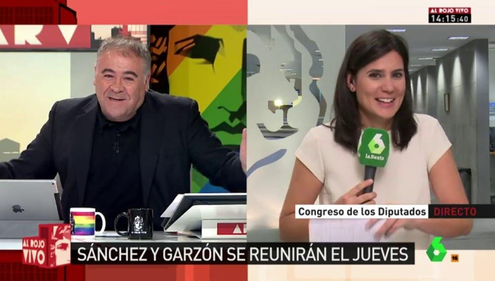 Antonio García Ferreras y María Llapart en Al Rojo Vivo de laSexta.
