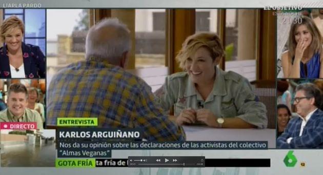 Carlos Arguiñano con Cristina Pardo