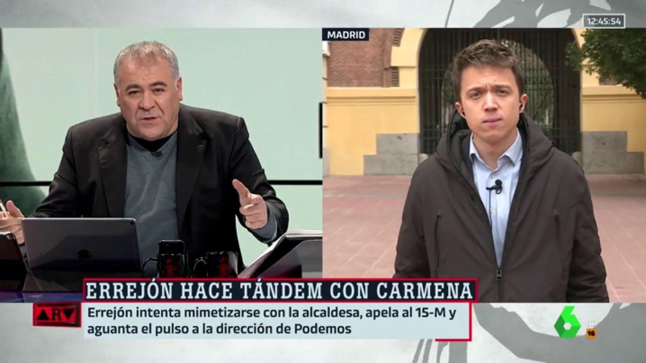Antonio García Ferreras e Íñigo Errejón en La Sexta.