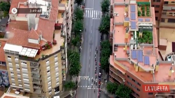Imagen aérea de La Vuelta a España
