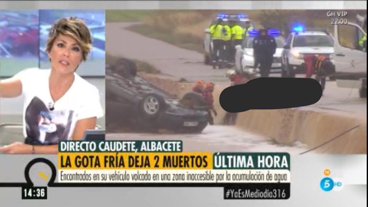 Imágenes del levantamiento de un cadáver emitidas en el programa 'Ya es mediodía' de Telecinco