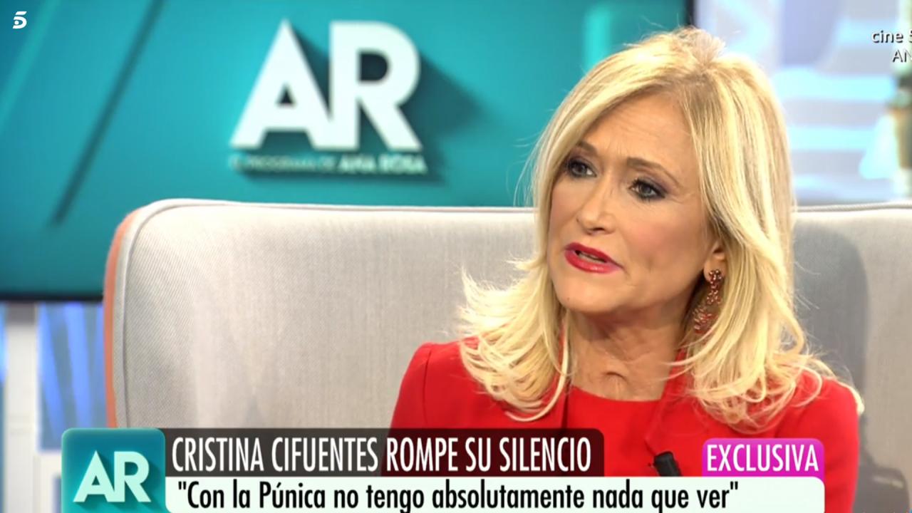 Cristina Cifuentes en Telecinco.