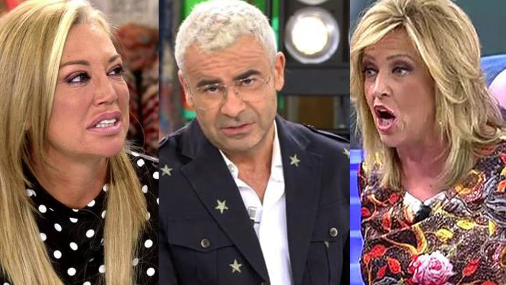 Belén Esteban, Jorge Javier Vázquez y Lydia Lozano en Telecinco.