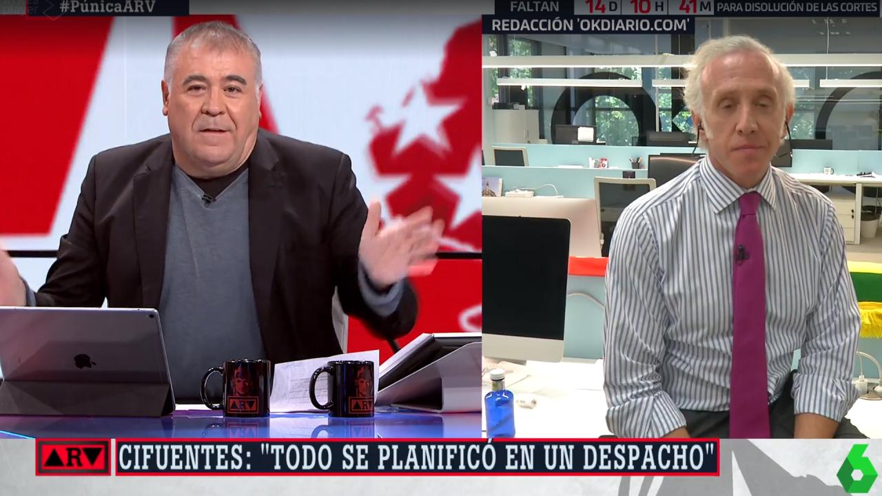 Antonio García Ferreras y Eduardo Inda en laSexta