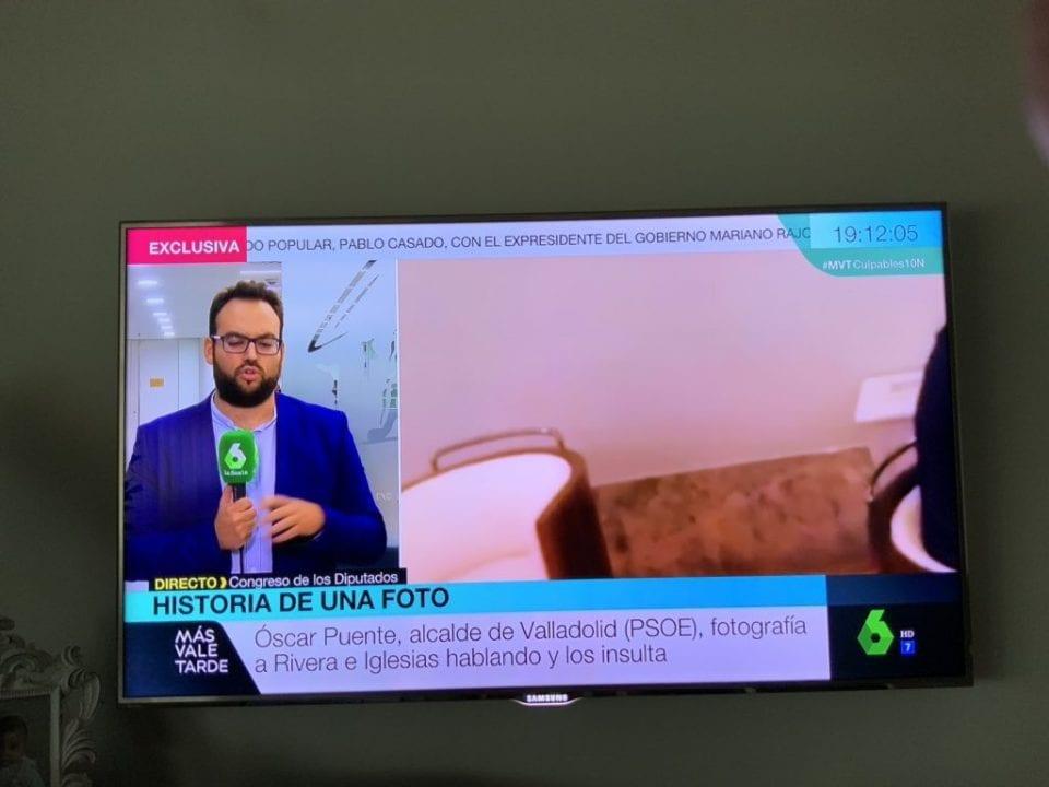 Imagen del programa Más Vale Tarde compartida por Óscar Puente.