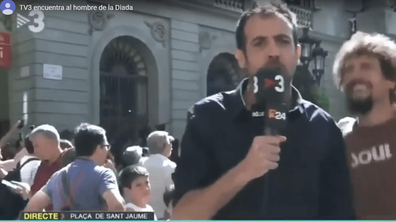 Parodia de TV3 de la manipulación de La Sexta durante la Diada.