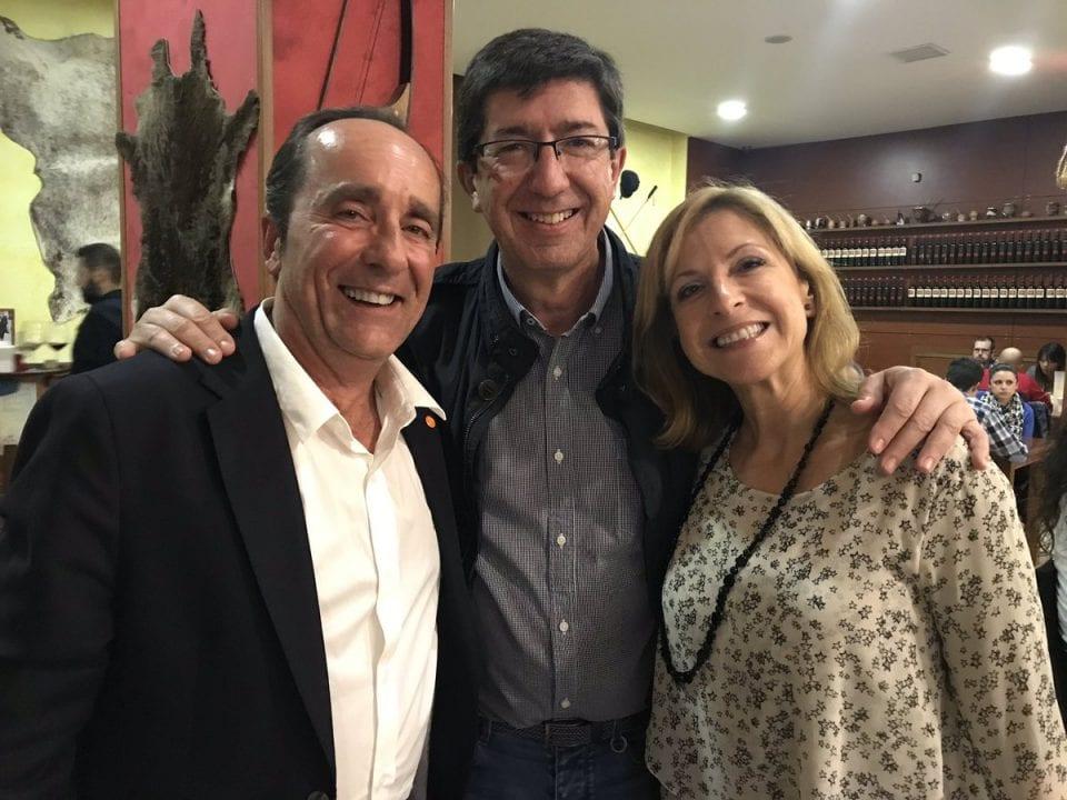 Andrés Samper junto a Juan Marín. Fuente Twitter.
