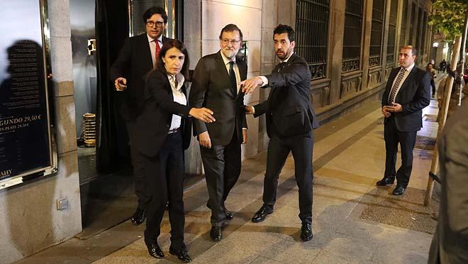 M. Rajoy durante su moción de censura.