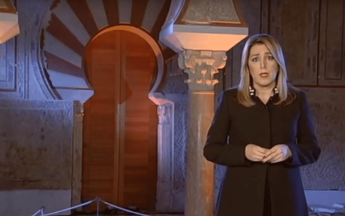Aparición navideña de Susana Díaz, lideresa de la organización PSOE-A.