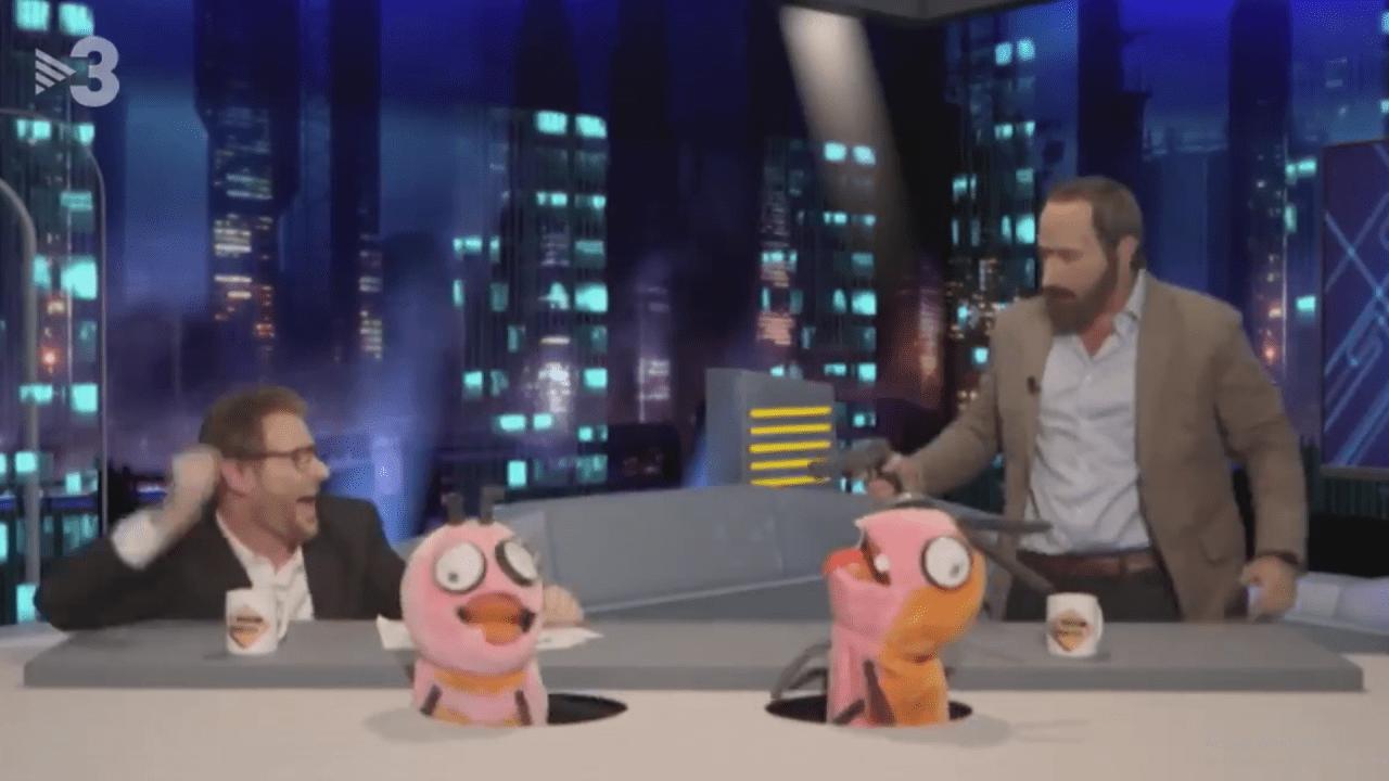 Parodia de la visita de Abascal a El Hormiguero hecha por el programa Polonia de TV3.