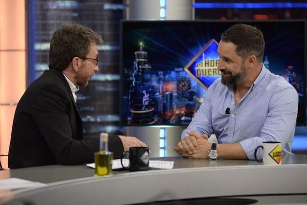 Pablo Motos y Santiago Abascal en Antena 3.