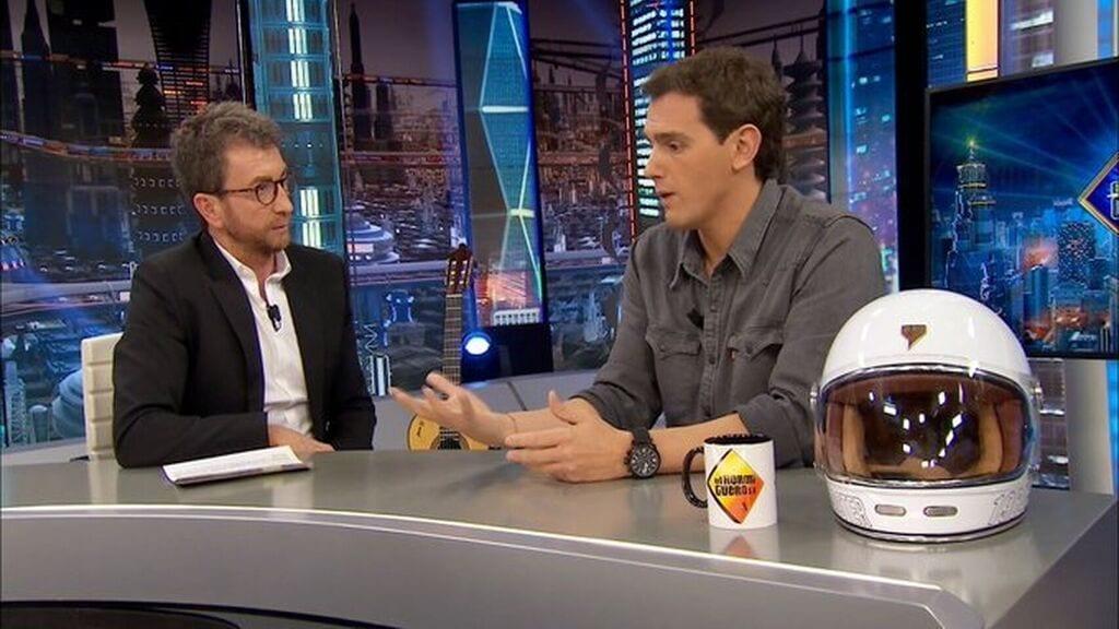 Albert Rivera u Pablo Motos en El Hormiguero de Antena 3.