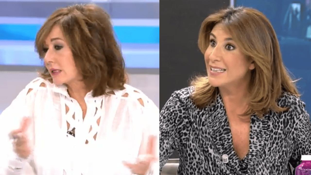 Ana Rosa Quintana y Pilar García de la Granja en Telecinco.