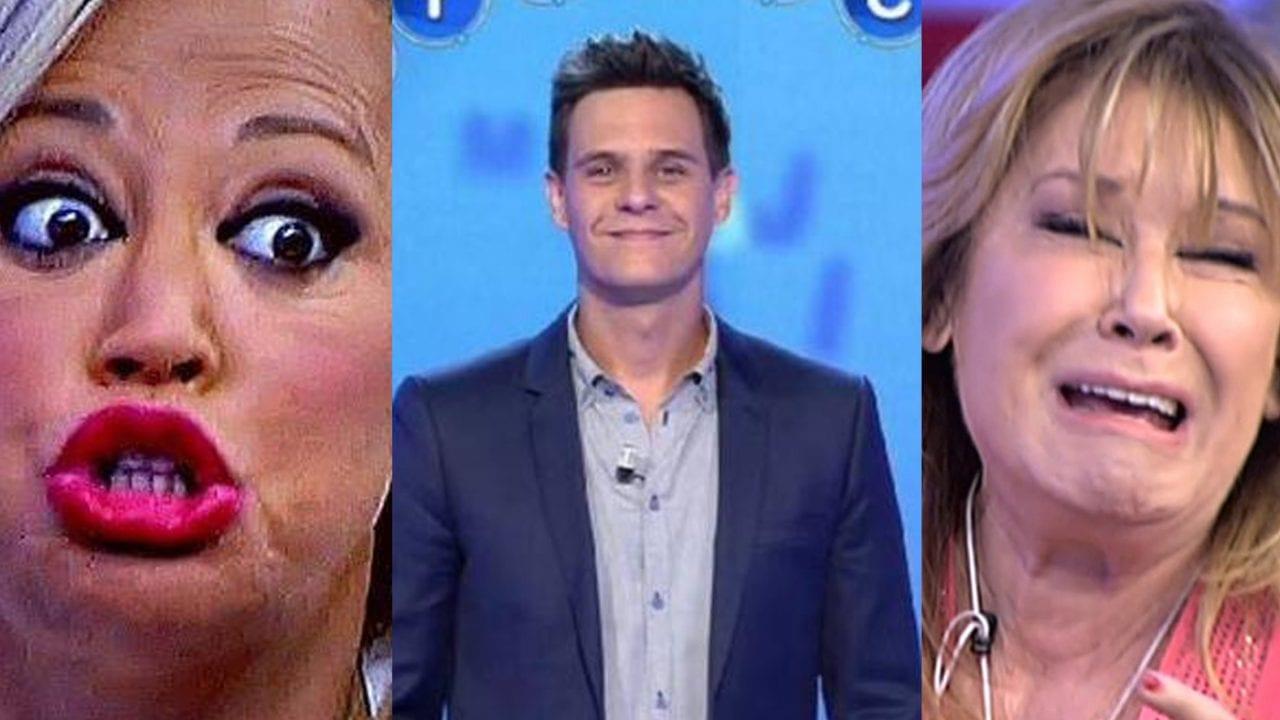 Belén Esteban, Christian Gálvez y Mila Ximénez en Telecinco.