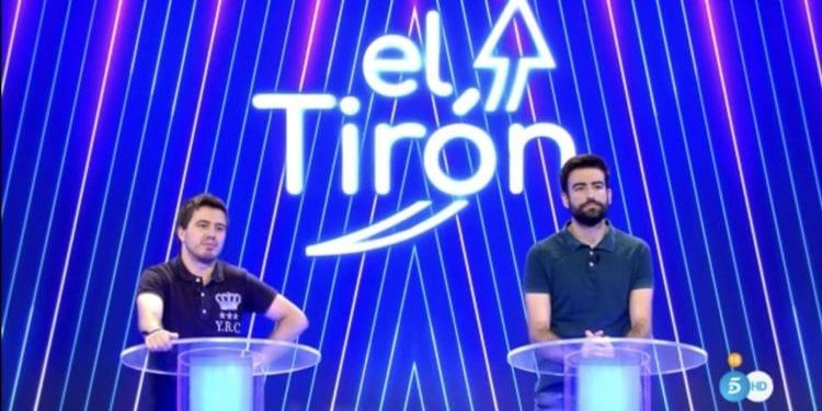 Programa El Tirón en el plató de 'Sálvame Banana' de Telecinco.
