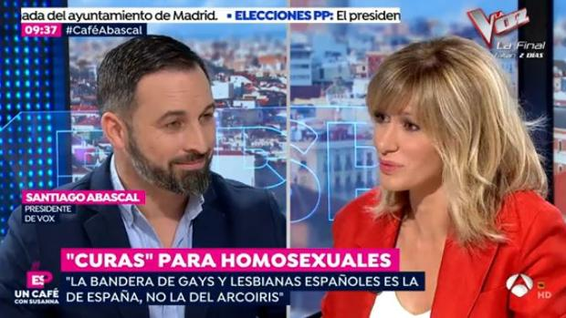 Santiago Abascal en el programa
