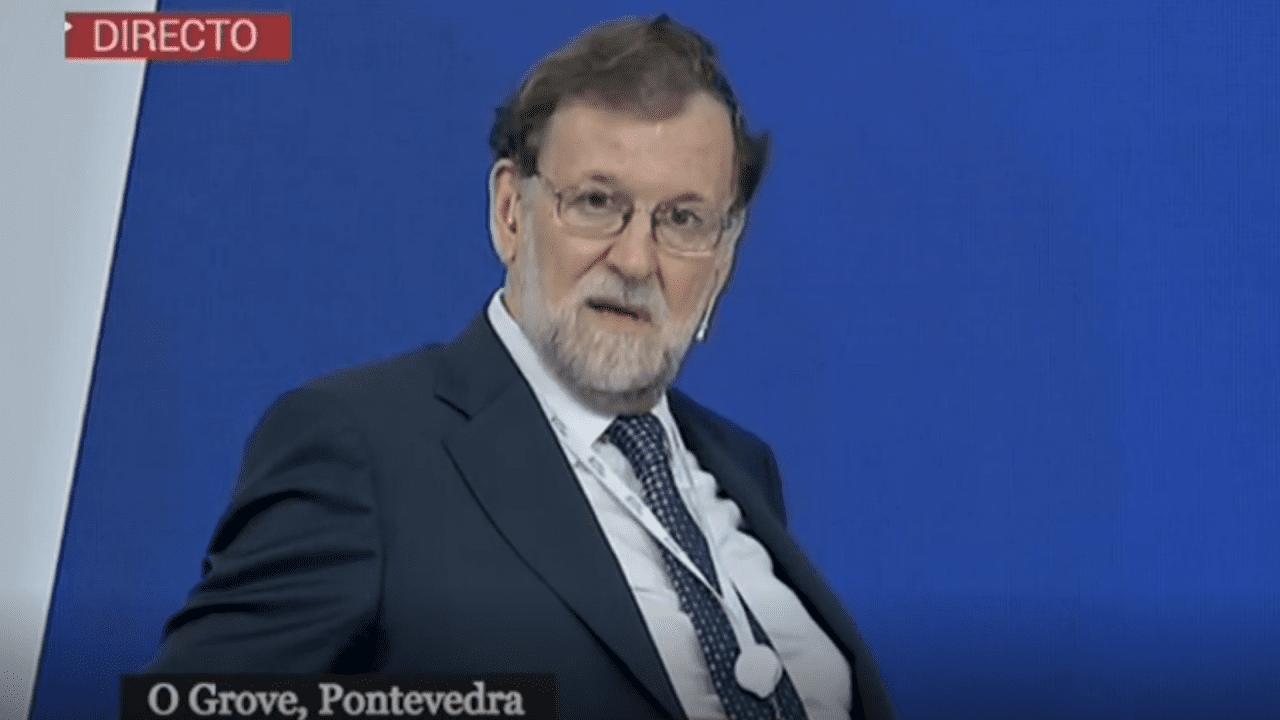 M. Rajoy hablando de corrupción junto a F. González.