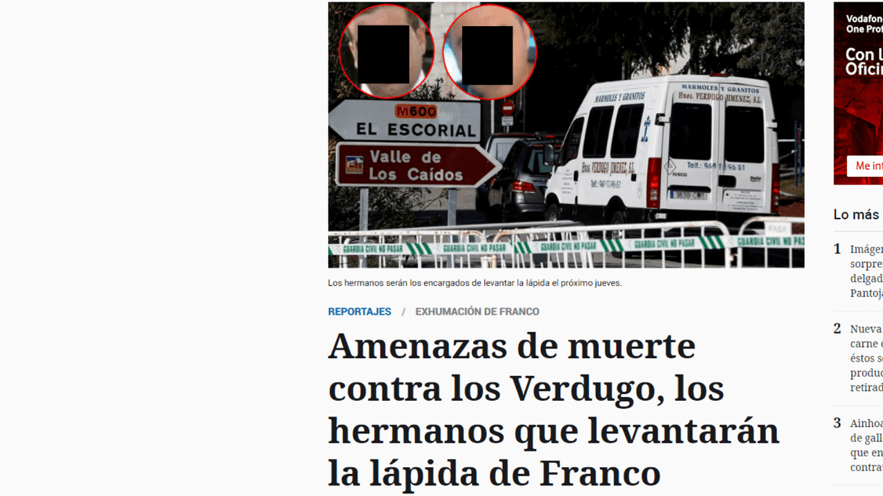 Parte del artículo publicado por EL ESPAÑOL.