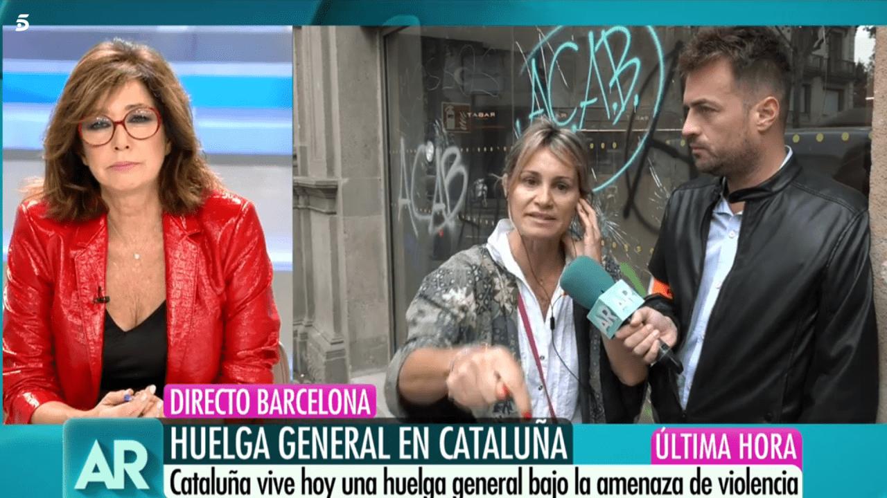 Ana Rosa Quinta y Paola Añó en Telecinco.