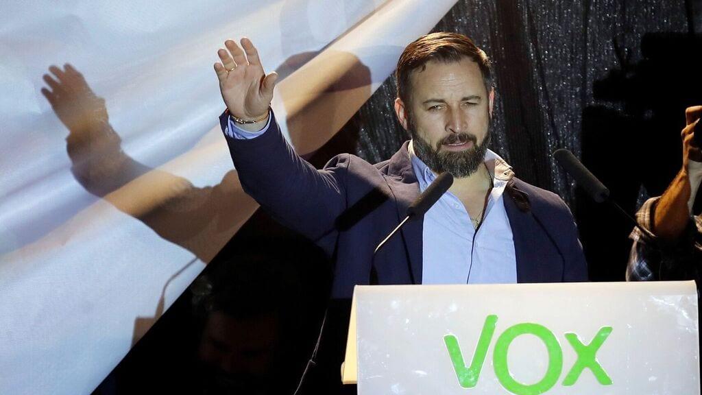 El líder de Vox, Santiago Abascal,