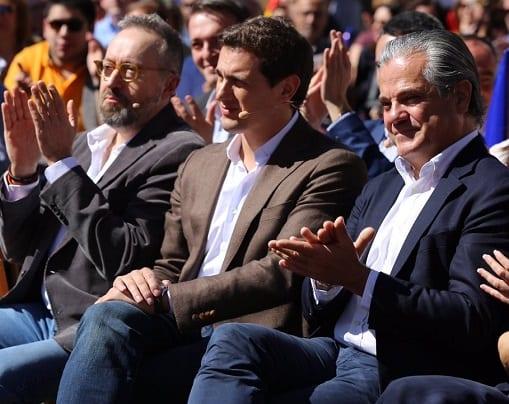 Juan Carlos Girauta, Albert Rivera y Marcos de Quinto.