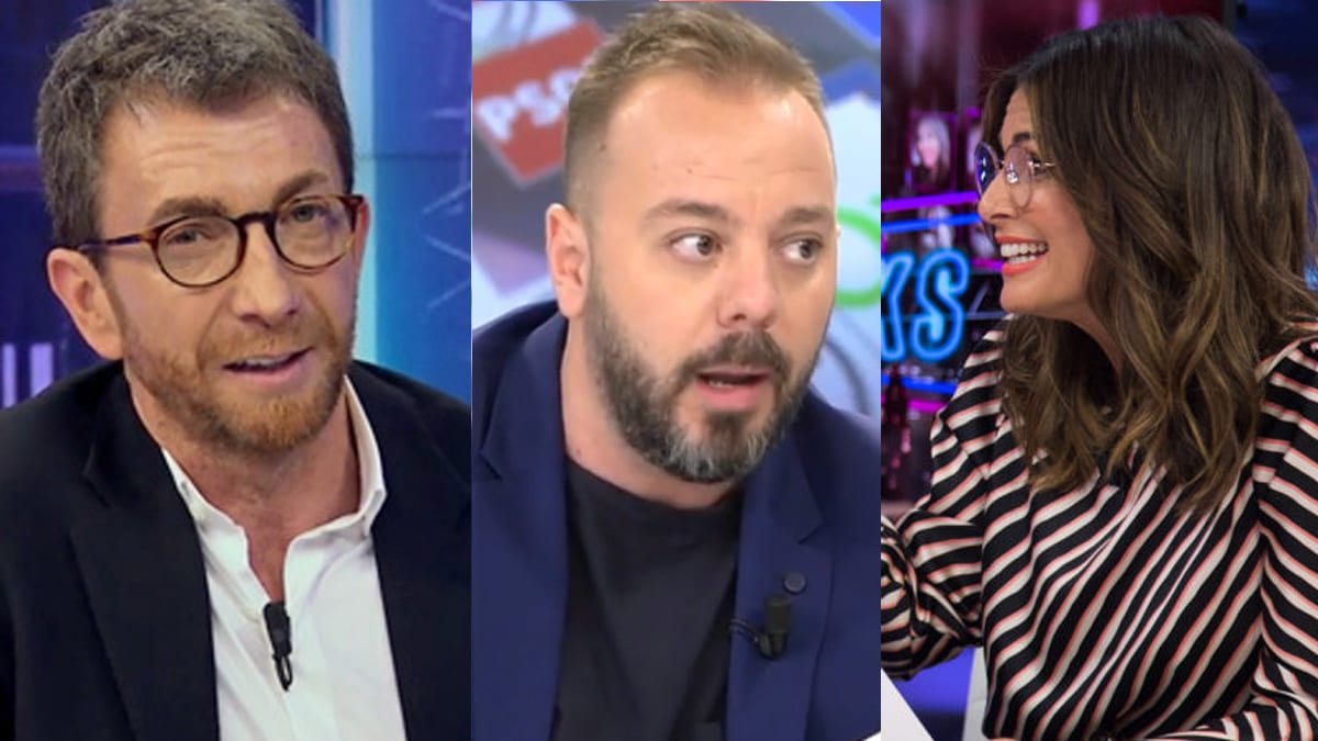 Pablo Motos, Antonio Maestre y Nuria Roca.