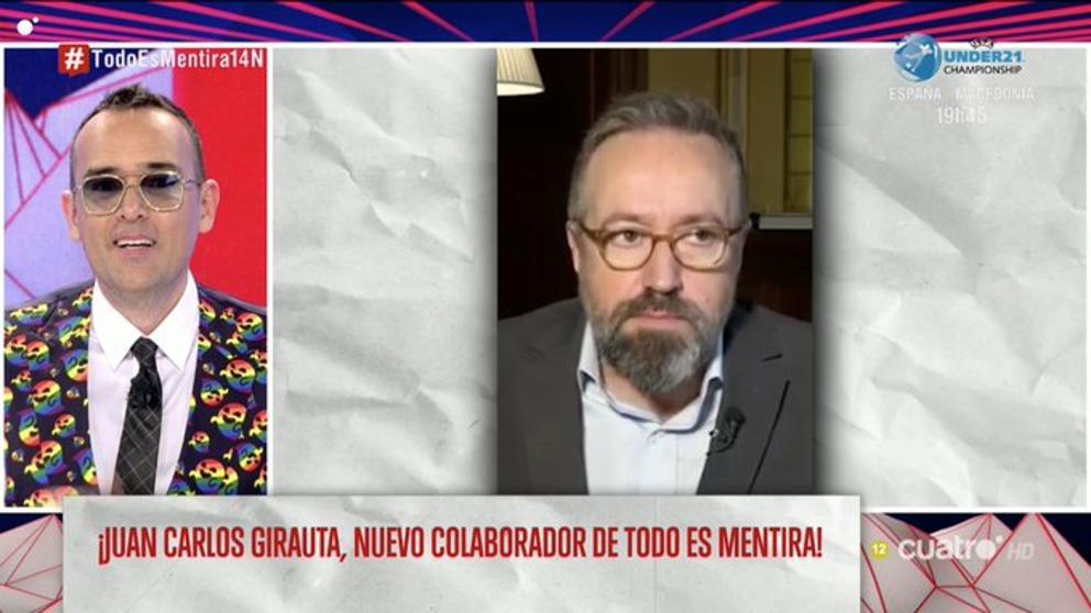 Risto Mejide y Juan Carlos Girauta en Cuatro.