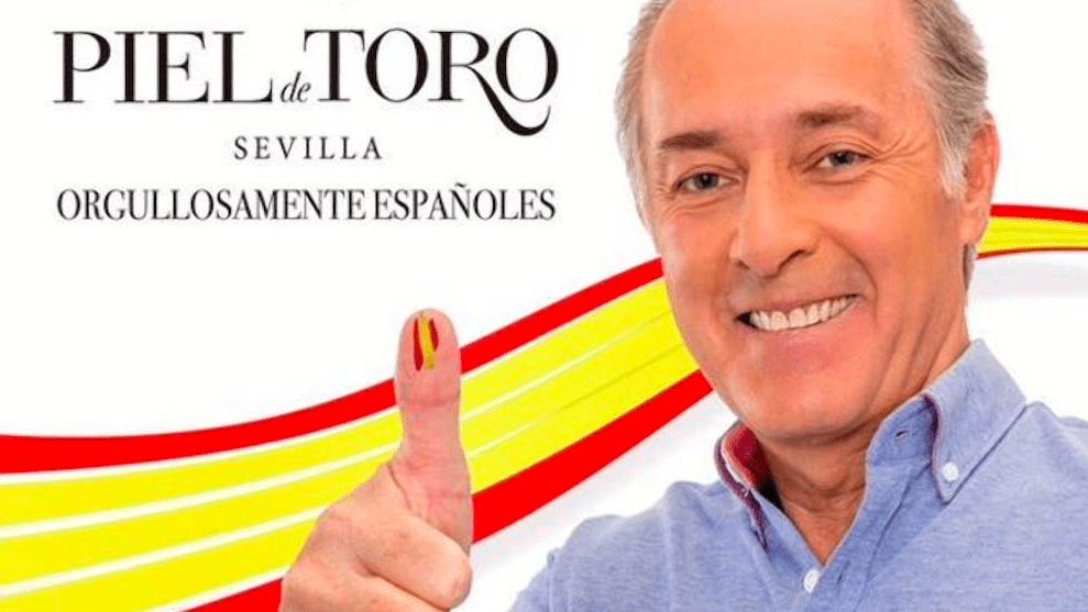 José Manuel Soto en una patriótica campaña publicitaria de