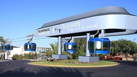 Proyecto de teleférico para comunicar Tomares con Sevilla
