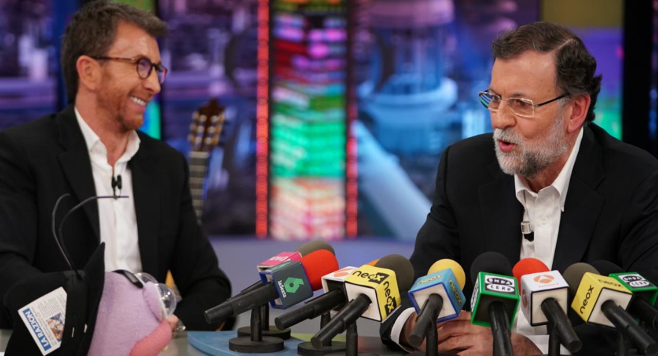 Pablo Motos y Mariano Rajoy en Antena 3.